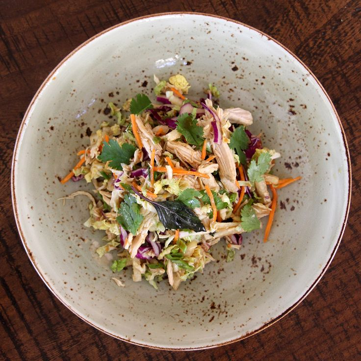 New farmer's market driven items have been added to the refreshed Coast Beach Cafe & Bar menu including this Thai chicken salad! Shutters on the Beach - Santa Monica, California.