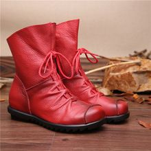 2015 leather boots female boots increased female boots Martin boots female B12810 within the original with new winter low(China (Mainland))