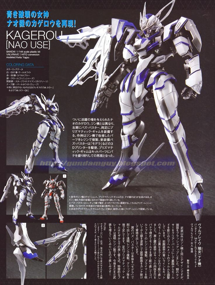 MECHA GUY: 1/144 VALVRAVE the Liberator: Kagerou [Nao Use] - Custom Build