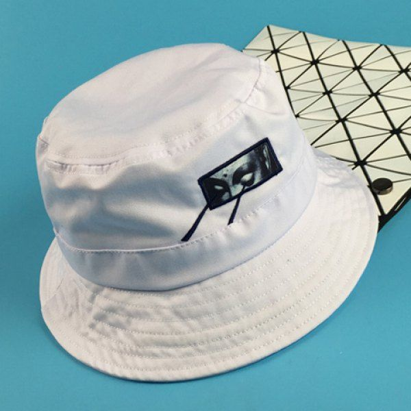 Stylish Eyes Applique and Embroidery Embellished Men's Bucket Hat #shoes, #jewelry, #women, #men, #hats, #watches