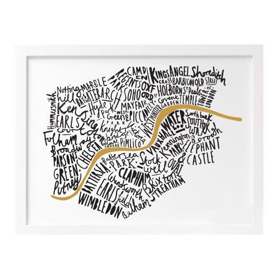 A4 London print London map London poster London by OldEnglishCo