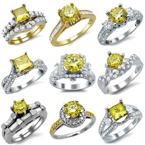 Canary Yellow Diamond Engagement Rings: Hot Wedding Bling for 2013