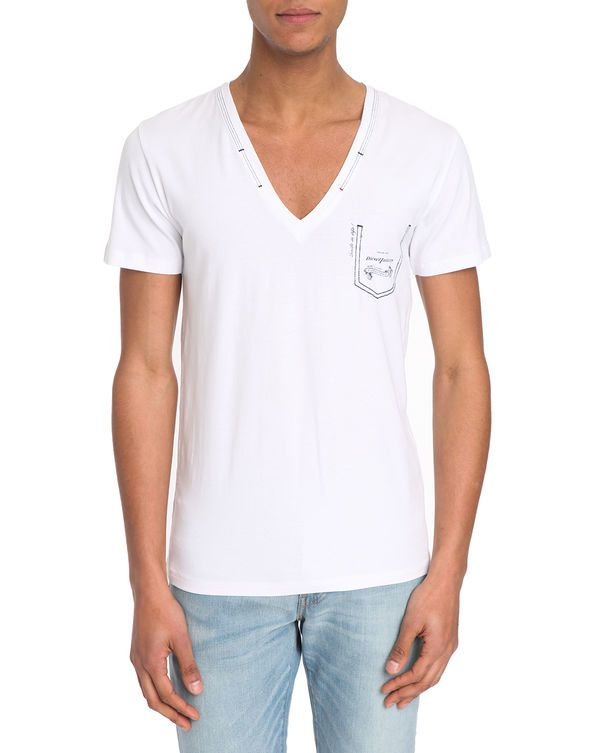 30% OFF DIESEL, Black T-shirt with Jesse Trompe l'Oeil Pocket