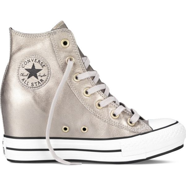 Converse Chuck Taylor All Star Metallic Platform Plus Sneakers found on Polyvore