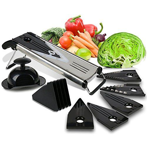 Culinary Cooking Tools Premium VBlade Stainless Steel Mandoline Slicer  Fruit and Vegetable Slicer  Food Slicer  Vegetable Cutter  Potato Slicer  Vegetable Julienne  Includes 5 Inserts BLACK * Read more  at the image link.Note:It is affiliate link to Amazon.