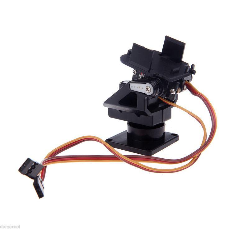 Plastic PT Kit Pan Tilt Camera Platform Anti Vibration Mount Fr FPV RC Black   eBay