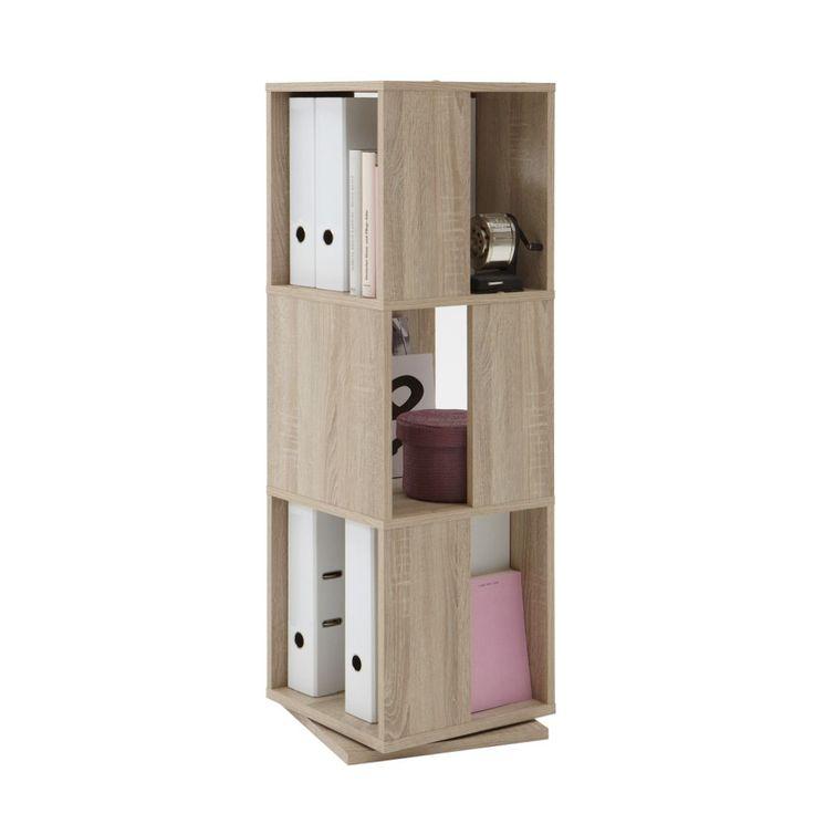 Office Drehregal 3 Ordnerhöhen - Eiche Dekor, home24 office Jetzt bestellen unter: https://moebel.ladendirekt.de/wohnzimmer/regale/?uid=416be35c-ca58-58c2-99dc-240a899e5433&utm_source=pinterest&utm_medium=pin&utm_campaign=boards #möbel #home24 #wohnzimmer #office #regale