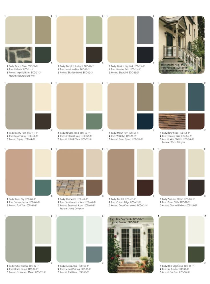Set of beautiful natural colors ange 39 s dollhouse - Colours for exterior house painting ...