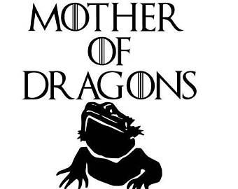Download Mother of Dragons Bearded Dragon Decal   Bearded dragon ...