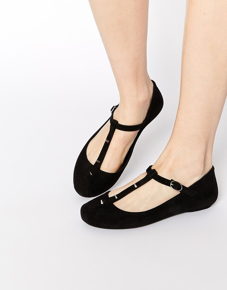 Melissa BELIEVE - Ankle strap ballet pumps - black