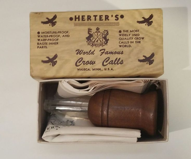 Vintage Herter's World Famous Crow Call No. 204 w/ Box Made in the U.S.A. Hunter #Herters