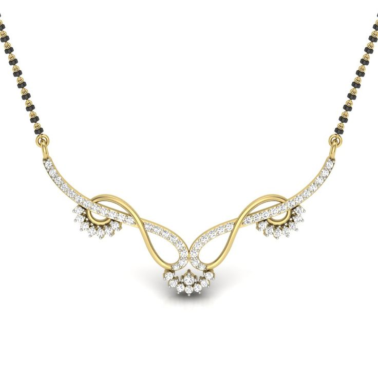 Diamond Mangalsutra Designs India | The Avantika Mangalsutra