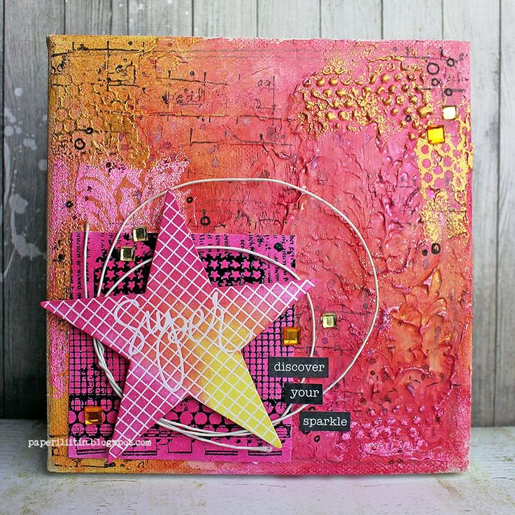 Riikka Kovasin - Paperiliitin: Discover your sparkle - Scrap365 / made with stamps by Birgit Koopsen