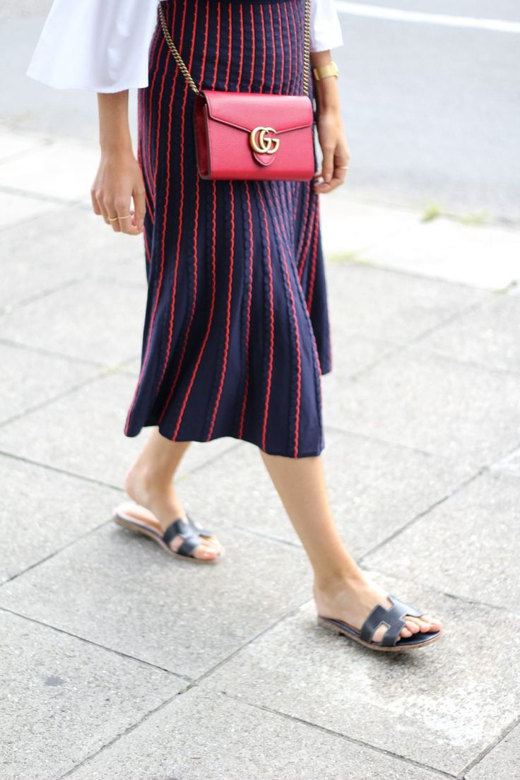Gucci, Gucci Bag, bags, Street Style, Blogger Style, Midi skirt, summer outfit.