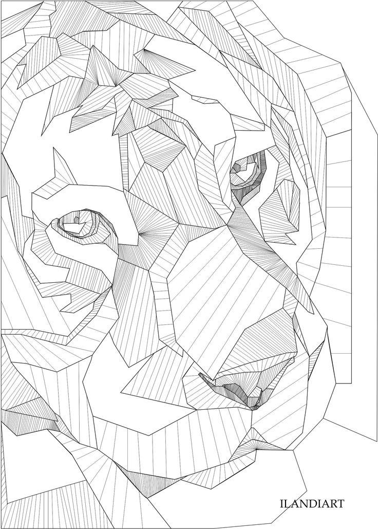 Ilandi Barkhuizen. 2015. Tiger line art. Digital art. Corel Draw