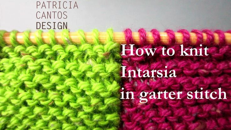 Knitting Increase Stitch In Middle Of Row : How to knit intarsia garter stitch - change color middle of row video tutoria...
