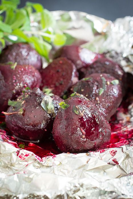 Baked Beets with Butter and Oregano | Foodness Gracious