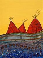 Three Red Wigwams - Alan Syliboy