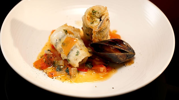 Amazing recipe ! MKR4 Recipe - Sicilian Stuffed and Rolled Garfish with a Tomato and White Wine Sauce
