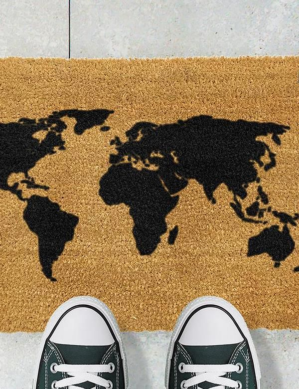 Knock Knock It's Gin O'clock Coir Outdoor Doormat Entrance Mat New
