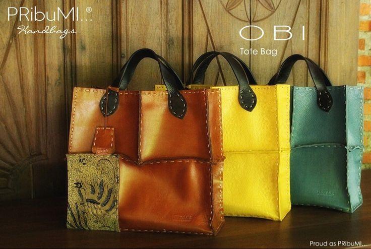 OBI Tote Bag — For more information or inquiry, please contact via :  WA : 082213355211 LINE : pribumi_id PIN BB : D0C84E0A Email : order@pribumi.co.id www.pribumi.co.id