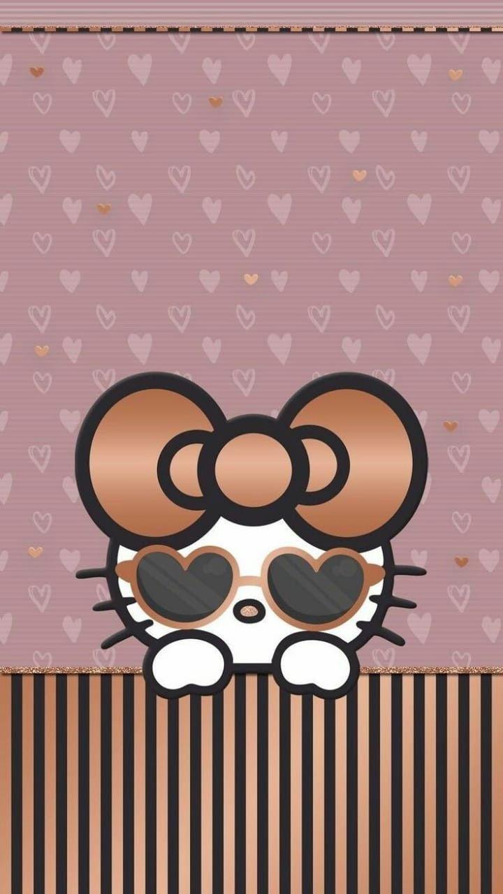 Rose Gold Hello Kitty Hello Kitty Wallpaper Gold Hello Kitty