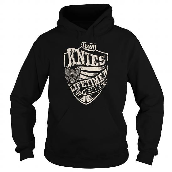 I Love Last Name, Surname Tshirts - Team KNIES Lifetime Member Eagle T shirts