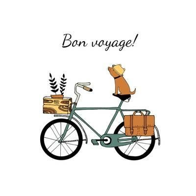 Vintage Bicycle Illustration Photographic Print by Tasiania at Art.com
