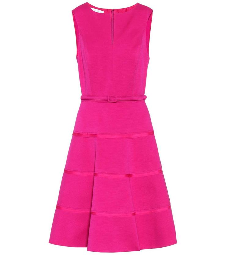 OSCAR DE LA RENTA - Wool blend sleeveless dress - Channel a vibrant, ladylike vibe in this wool blend sleeveless dress from Oscar de la Renta with its captivating magenta hue. Team yours with white heels and pearl accessories to play up a sophisticated feel. - @ www.mytheresa.com