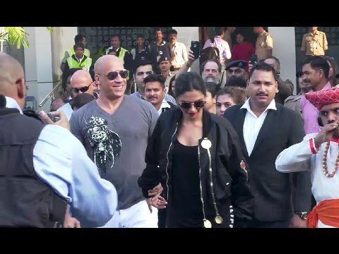 Deepika Padukone & Vin Diesel arrives in India to promote XXX movie.