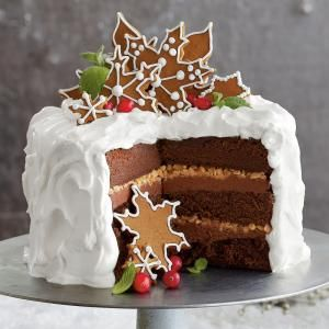 Our Best Christmas Cakes | Chocolate-Gingerbread-Toffee Cake  | MyRecipes.com