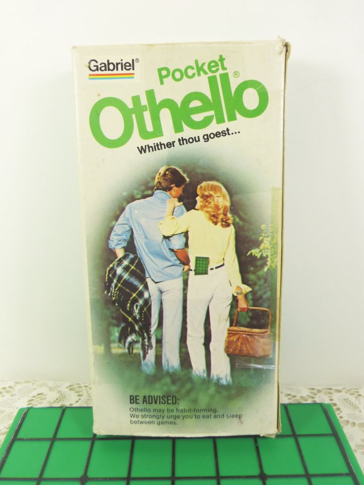 We had one of these way back when... Pocket Othello Game