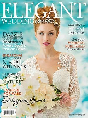 Our Emerald Cut Solitaire Engagement Ring on the Cover of Elegant Wedding   Wedding - Elegant Wedding: Bridal Gowns 2018, Reception Venues, Wedding Trends For 2018,