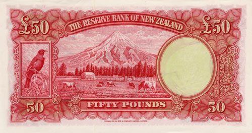 Mt Taranaki on a £50 note