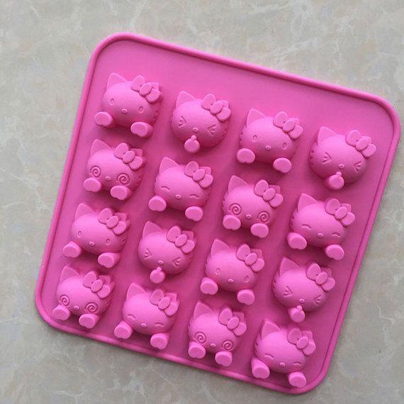 Cake Silicone Hello Kitty Fondant Gum Paste by TodoParaPastel