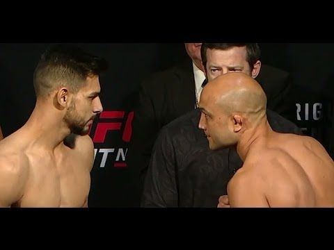 MMA BJ Penn vs Yair Rodriguez UFC Fight Night Weigh-In   (Main Event)