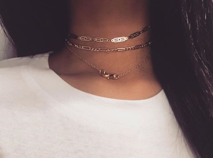 Love layered necklaces
