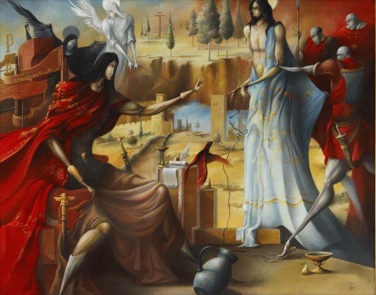 """2007 year. """"Pilate's sentence""""  Oleg Osipoff Official Site: http://osipoff-art.com/"""