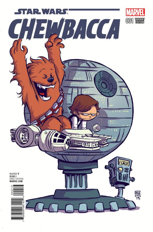 Chewbacca #1 variant cover by Skottie Young