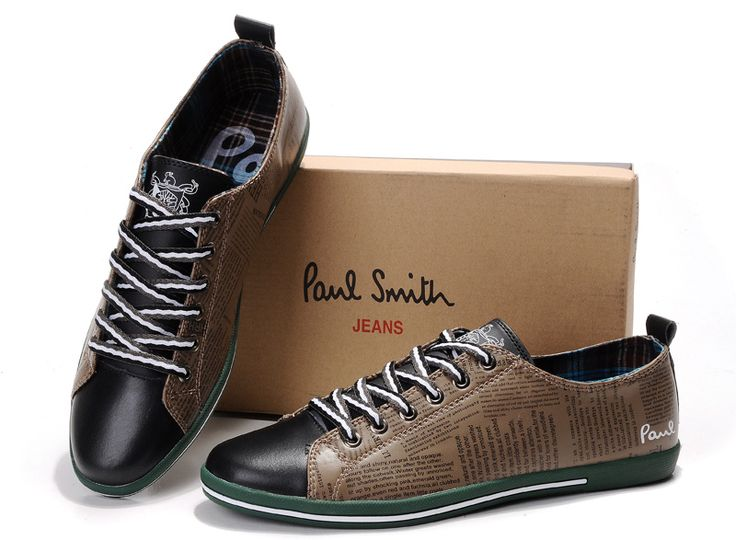 2013 Paul Smith Chaussures hommes Soldes Brown Vert_4