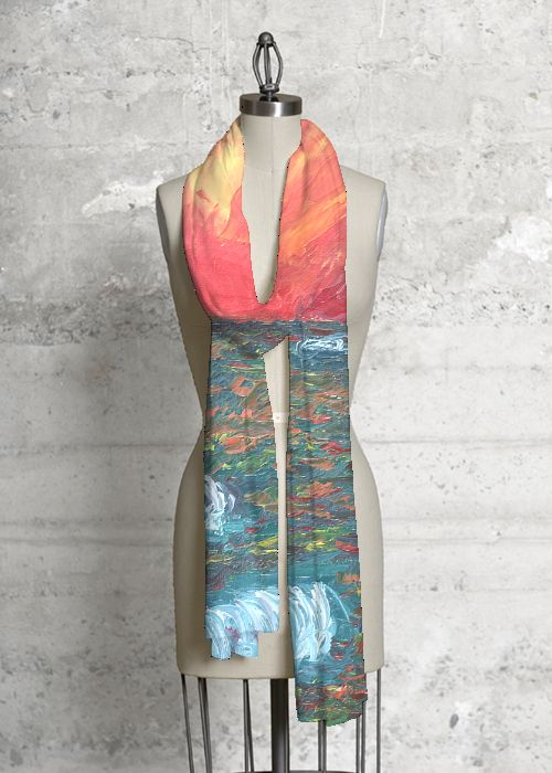 Silk Square Scarf - Sunset Waves by VIDA VIDA 5rzHMHnkyc