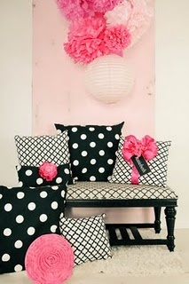 super fun! polkas with black, hot pink and white!