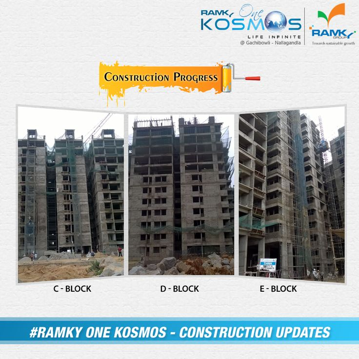 #Construction #Update We are very excited & Feeling Happy to update #RamkyOneKosmos #Construction progress. Commited to Quality & Promising the Future smile emoticon To know more Visit – www.ramkyonekosmos.com