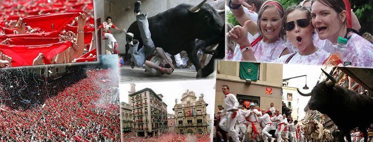 Running of the Bulls, Pamplona Spain in 2013