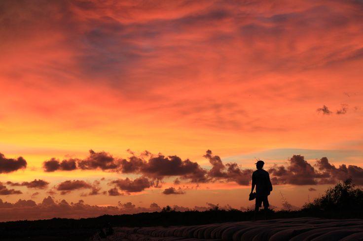Sunset in Sanur (Bali)