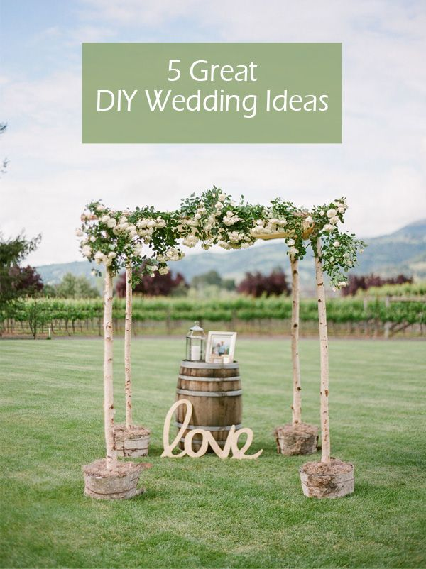 5 Original & Stress-free DIY Wedding Ideas (including invitations, decorations…