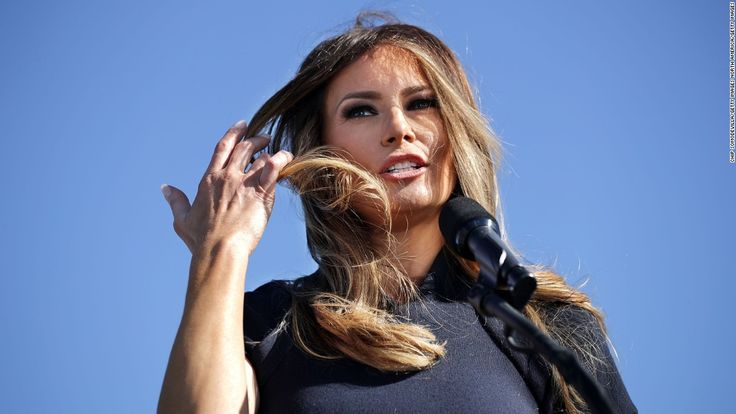 A small town in Slovenia is celebrating its most famous resident's new role as the first lady of the United States.