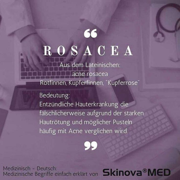 """Medizinische Begriffe erklärt von Skinova®MED:  Heute die Hautkrankheit Rosacea bzw. Rosazea.  Der Begriff Rosacea stammt aus dem Lateinischen und wird wörtlich mit """"Kupferrose"""" übersetzt. Veraltete bzw. weitere Begriffe dieser Erkrankung sind Couperose, Gesichtsrose, Kupferfinnen oder Rotfinnen.  Diese chronische Hauterkrankung verläuft ...#dermatose #hautkrankheit #hautprobleme #rosacea #couperose #hautrötung #durchblutung #gesicht #chronisch #Hauterkrankung #pickel"""