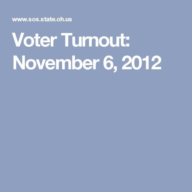 Voter Turnout: November 6, 2012