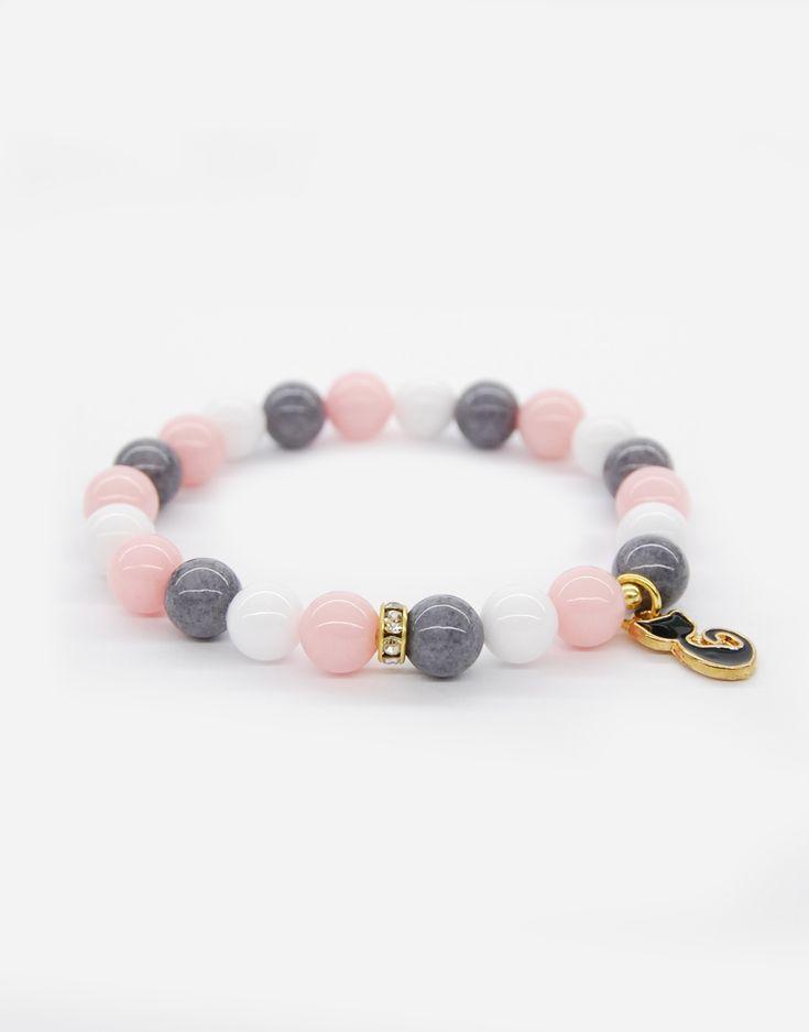 Bracelets / cat / pastels / natural stone